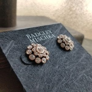 Badgley Mischka NWT Floral Stud Earrings